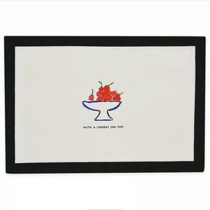 2 Kate Spade Pretty Pantry Placemats Cherry On Top